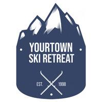 Mountain Ski Resort Blue Logo template