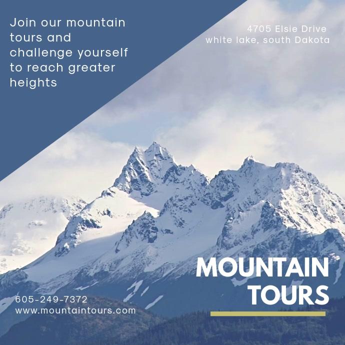 Mountain Tours Instagram Video Template Quadrado (1:1)