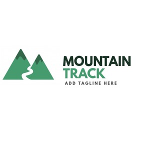 mountain track logo template design