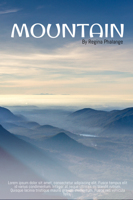 Mountain traveling Book Cover Movie Film Template