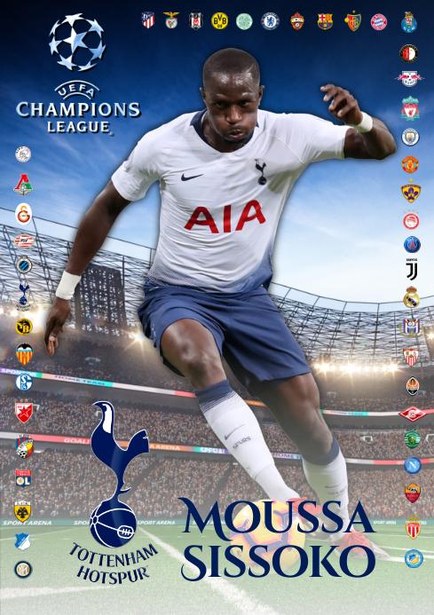 Moussa Sissoko Tottenham Poster