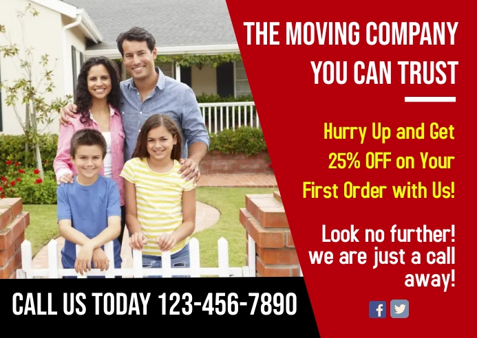 Move In & Out Postcard