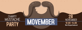 Movember Mustache Charity Event Banner