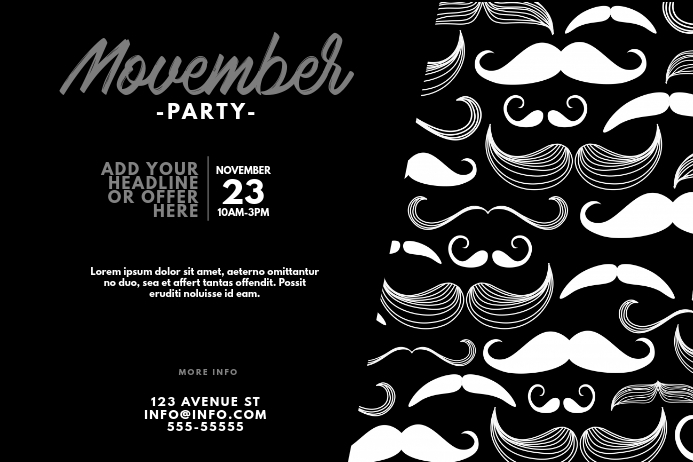 movember party flyer design template Plakat