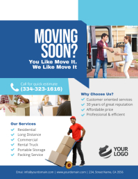 Movers and Packers Flyer Poster template