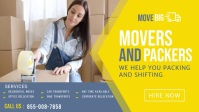 Movers and Packers Service Facebook Cover Facebook-omslagvideo (16:9) template