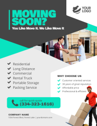 Movers and Packers service flyer Pamflet (Letter AS) template