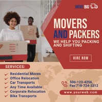 Movers and Packers Service Instagram Post template