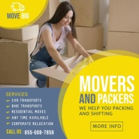 Movers and Packers Service Template Square (1:1)