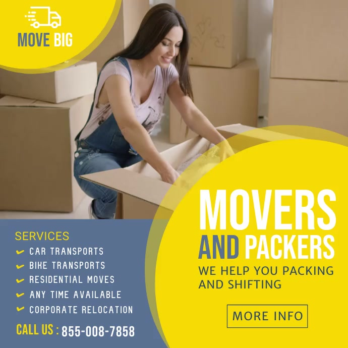 Movers and Packers Service Template