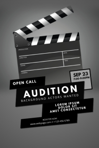 customizable design templates for audition postermywall