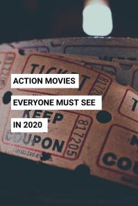 Movie Blog Pinterest Pin Template