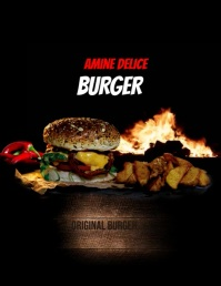 MOVIE BURGER Flyer (US Letter) template
