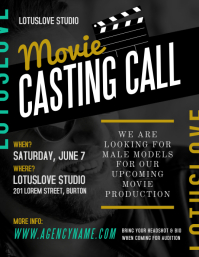 Movie Casting Call Flyer Template