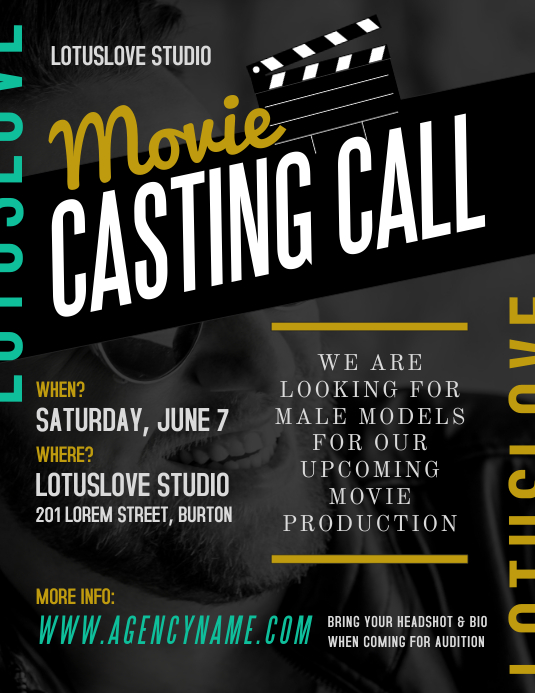 Movie Casting Call Flyer Template | PosterMyWall