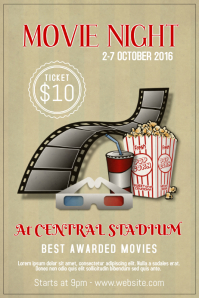 Movie Film Theatre Night Event Poster Flyer Template
