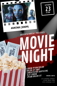 Movie Flyer Poster template