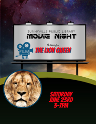 Movie in the Park Night Event Flyer Template