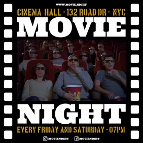 MOVIE NIGHT BANNER Publicação no Instagram template