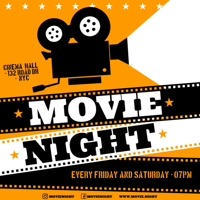 MOVIE NIGHT BANNER Iphosti le-Instagram template