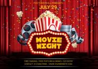 movie night Postcard template