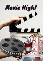 Movie Night A4 template