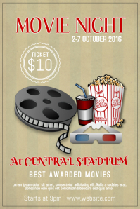 Movie Night Event poster Template