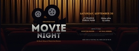 Movie Night Facebook Cover Photo template