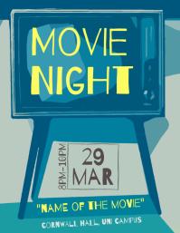 Movie night flyer artistic