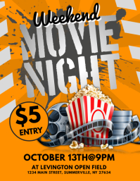 3470 customizable design templates for movie night postermywall movie night flyer maxwellsz