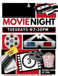 Movie Night Flyer Template · Movie Night