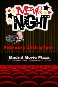 movie night flyer word template