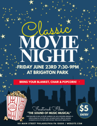 movie night film or theatre flyer template