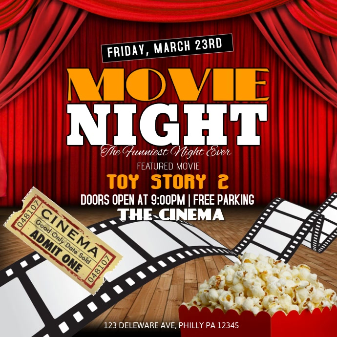 Movie Night Template  Postermywall