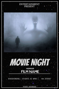 Movie night flyer template