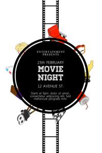 Movie Night Flyer Template