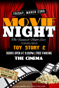 280 Movie Night Customizable Design Templates Postermywall
