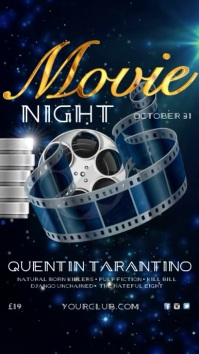 Movie Night Instagram template