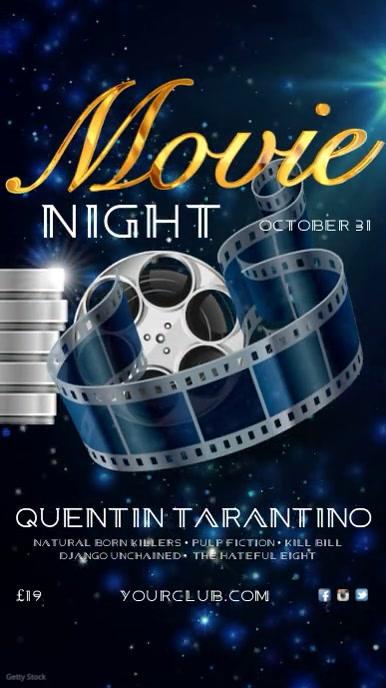 Movie Night Instagram template Digital na Display (9:16)