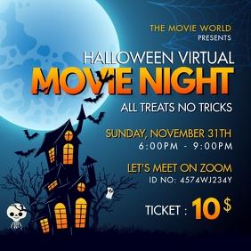 Movie Night Invite Spooky Halloween