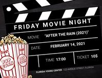 Movie Night Landscape flyer template ใบปลิว (US Letter)