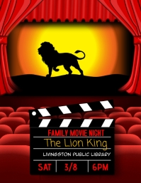 movie night out family event flyer