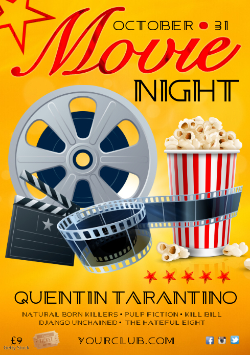 Film Nacht Poster-Vorlage | PosterMyWall