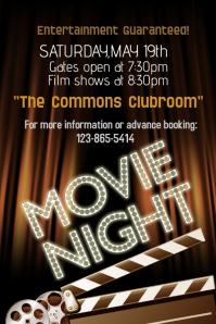 Movie Night Flyer Template Hobitfullring