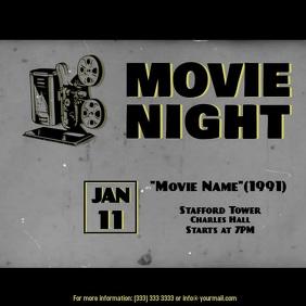 Movie night video ad