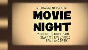 Movie night video flyer template