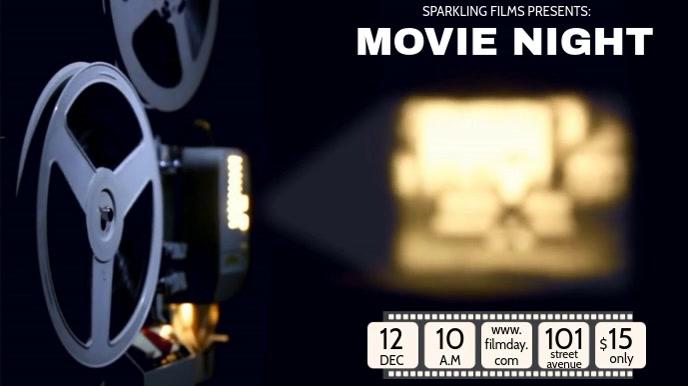 MOVIE NIGHT VIDEO TEMPLATE Tampilan Digital (16:9)
