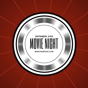 Movie Night Video Template for instagram