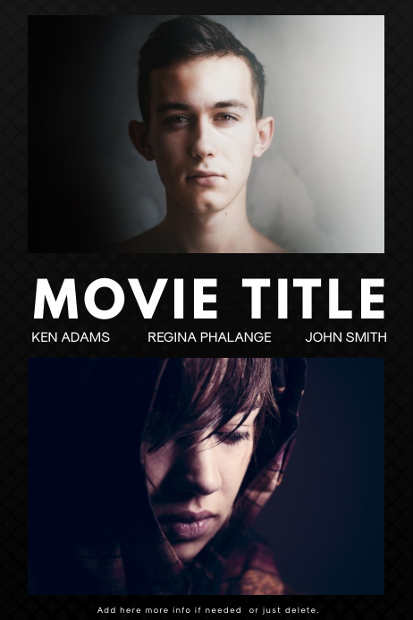 Movie Poster Template for free