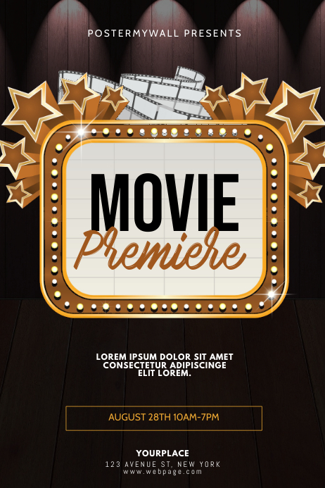 Movie Premiere Flyer Design Template Postermywall